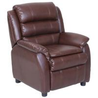 Wholesale Brown Contemporary Leather Sofa / Comfortable Children Sofa with PU Covered from china suppliers