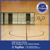 Wholesale Wood like shape sports floor for basketball court from china suppliers