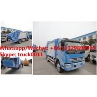 China HOT SALE! dongfeng 4*2 LHD 7cbm garbage compactor truck, Factory sale good price dongfeng 7m3 compacted garbage truck on sale