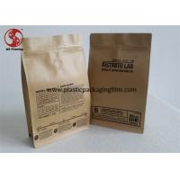 Wholesale Custom Printed Coffee Bags With Valve , Kraft Paper Zipper Coffee Bags Packaging from china suppliers
