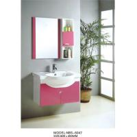 Wholesale PVC bathroom vanity / wall mount cabinet / hung cabinet / pink color for bathroom 80 X45/cm from china suppliers