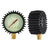 Wholesale 63mm Bottom car tyre air pressure gauges with black rubber , dry pressure gauge from china suppliers