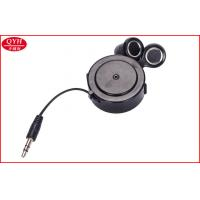 Wholesale Gray In Ear Earphone Retractable Earbuds 80CM black earplug from china suppliers