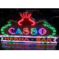 Wholesale Bulding / Casino Decoration Advertising LED Signs With Single Color Lamp 9mm 12mm from china suppliers