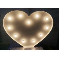 Buy cheap Heart Shape Marquee LED Wedding Letter Lights With Long Life LED Light Bulbs from wholesalers