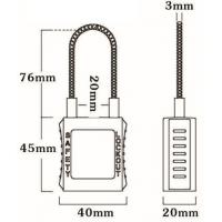 Quality 76mm Cable Safety Padlock 45mm*40mm*20mm for sale
