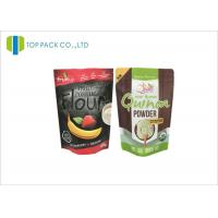 Wholesale 500 G Black Zipper Aluminum Foil Printed Stand Up Pouches Flour Packaging from china suppliers