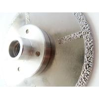 Wholesale Fast Cutting Vacuum Brazed Diamond Blades With Flange , Diamond Saw Blades For Stone from china suppliers