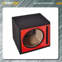 "Wholesale Carpet vented 15"" Car Speaker Enclosures , black / grey single subwoofer box from china suppliers"