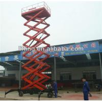 Wholesale 6 - 18m diesel mobile scissor lift platform for 500kg 800kg 1000kg Load capacity from china suppliers