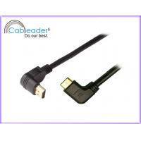 Wholesale 90 degree Mini HDMI 1.4 cable, HDMI type A male to C male support 1080P from china suppliers