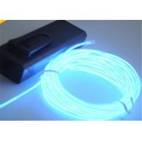 Wholesale Transparent Blue Green EL Lighting Wire In Roll With 3V - 2 AA Batteries Pack from china suppliers