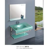 Wholesale bathroom cabinets with glass basin from china suppliers