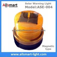 Wholesale 4LED Amber Yellow Color Solar Powered Magnetic Flashing Beacon Floating Barrel Lights Buoy Signal Lights Offshore Lights from china suppliers