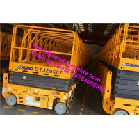 Wholesale 6-15m 1871m Wheelbase 10m Height Electric Scissor Yellow Color Aerial Working Platform from china suppliers