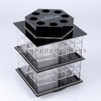 Wholesale Counter Top Beauty Salon Shop Fixture Lipstick Acrylic Display Stands Rotating from china suppliers