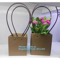Wholesale Cardboard flower packing boxes flower paper carrier bags flower packaging,book bag custom canvas shopping bag eco friend from china suppliers