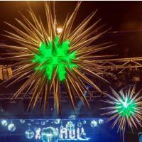 Wholesale 3m Shiny Thorn Inflatable Star with LED Light for Party and Club Decoration from china suppliers
