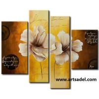 Wholesale 100% Handmade Flower Group Oil Painting On Canvas from china suppliers