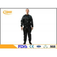 Wholesale Transparent PE Sauna Suit To Lose Weight , Disposable Sweating Suits For Workouts from china suppliers