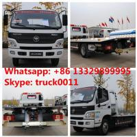 Wholesale BEST PRICE FOTON AUMARK road recovery truck tow truck for sale, factory direct sale FOTON 4*2 LHD Flatbed towing truck from china suppliers