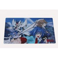 Buy cheap Custom Print Rubber Play Mat With Textured Fabric Surface For Card Game from wholesalers
