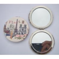Wholesale Round folding mirror with leather cover,  leather mini mirror from china suppliers