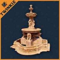 Wholesale Angel Hand Carved Stone Water Fountains Statue With Lion Head , Custom from china suppliers