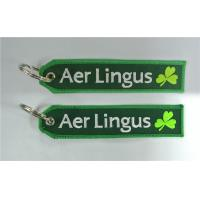 Wholesale Factory Price Fabric Keychain Aer Lingus Irish Airlines CREW Luggage Keychain Banner from china suppliers