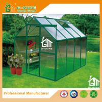 Wholesale 8'x6'x6.7'FT Green Color Single Door Popular Series Aluminum Greenhouse from china suppliers