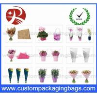 Wholesale Colorful Custom Packaging Bags , 0.02mm - 0.05mm OPP Flowers Sleeve from china suppliers