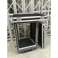 Wholesale 9mm Thickness Plywood Black 12U Amplifier Anti shock Rack Flight Case , 9/12 mm thickness from china suppliers