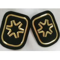 Wholesale Black And Gold Embossed 3D Rubber Patches Custom Velcro Badges For Soprtswear from china suppliers