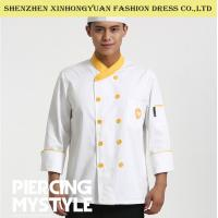 Wholesale Restaurant Double - Breasted Long Sleeve Executive Chef Coats For Men from china suppliers