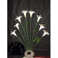Wholesale Solar White Lily On Poly Resin Stone from china suppliers