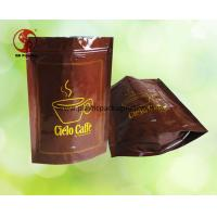 Wholesale Custom Printed Zipper Coffee Storage Bags for Food Packaging FDA / ROHS / QS from china suppliers