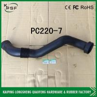 Buy cheap Black PC220-7 Hyundai Excavator Hose / High Performence Water Hose Radiator from wholesalers
