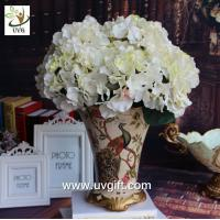 Wholesale UVG FHY22 White decorative fabric flower artificial hydrangea for wedding table decoration from china suppliers