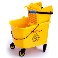 Wholesale 36L Commercial Press Mop Wringer Trolley With Pushing Handle / Four Wheels from china suppliers