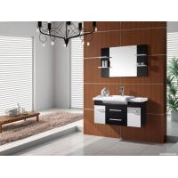Wholesale Wall mount PVC bathroom cabinet 80 X 47 / cm walnut Color Square vanity from china suppliers