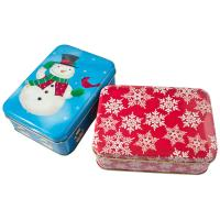 Wholesale Holiday Cookie Metal Tin Container , Food Storage Tinplate Boxes from china suppliers