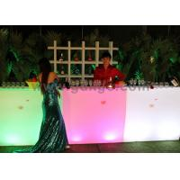 Wholesale Illuminated Straight Bar Tables / Bar Furniture , Mobile Bar Counter with RGB 16 colors light from china suppliers