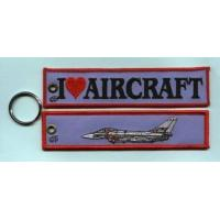 Wholesale I Love Aircraft Fabric Embroidered Keychain Keyring Custom Logo Are Welcome! from china suppliers