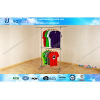 Buy cheap metal clothing rack mobile clothes rack adjustable clothes rack retail clothing racks from wholesalers