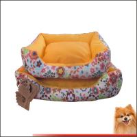 Wholesale Washable Dog Bed Canvas fabric dog beds with flower printed China manufacturer from china suppliers