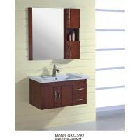 Wholesale 16mm oak Material Solid Wood Bathroom Cabinet small 100 X 46 / cm Brass handles from china suppliers