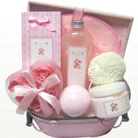 Wholesale Rose Fragrance Spa Bubble Bath Gift Set in Tin Box with Bath Fizzer 150g 9pc Rose Petal from china suppliers