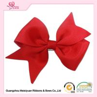 "Wholesale 3"" Red Grosgrain Ribbon Girls hair bows Clips for babies various style from china suppliers"