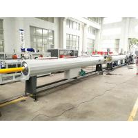 Wholesale Plastic HDPE PP Water Gas Pipe Making Machine With PLC Controlling from china suppliers