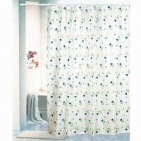 Wholesale Printed PEVA Shower Curtain, Made of 100% PEVA, Measures 180x180cm from china suppliers